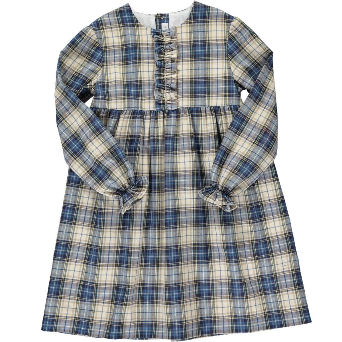 Leila Dress Blue/Beige Tartan