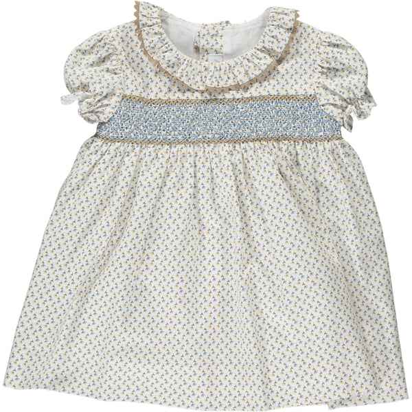 Marina Dress Blue/Beige Minifloral