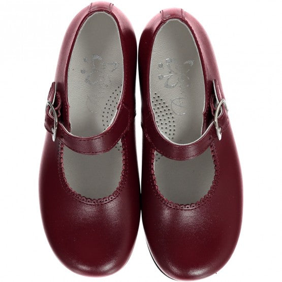 Burgundy Girl Mary Jane Shoes