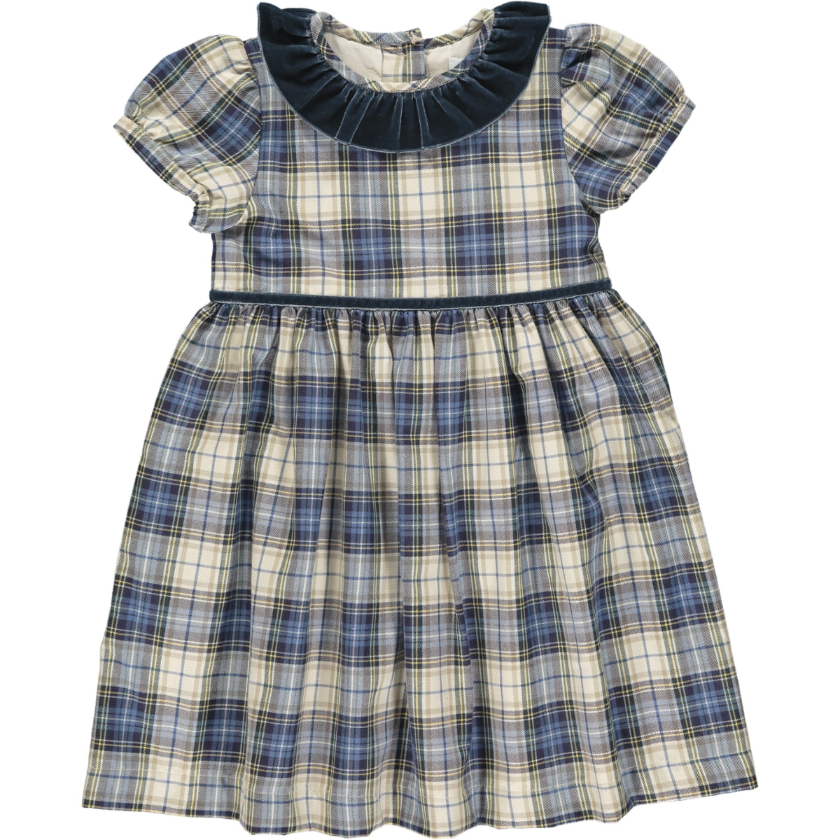 Raisin Dress Blue/Beige Tartan