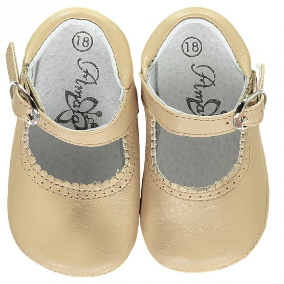 Soft Baby Girl Shoes Caramel
