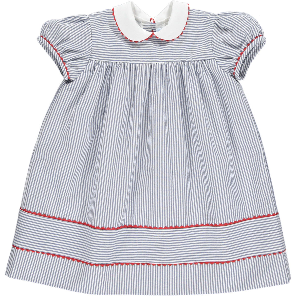Zoe Dress Navy Stripe
