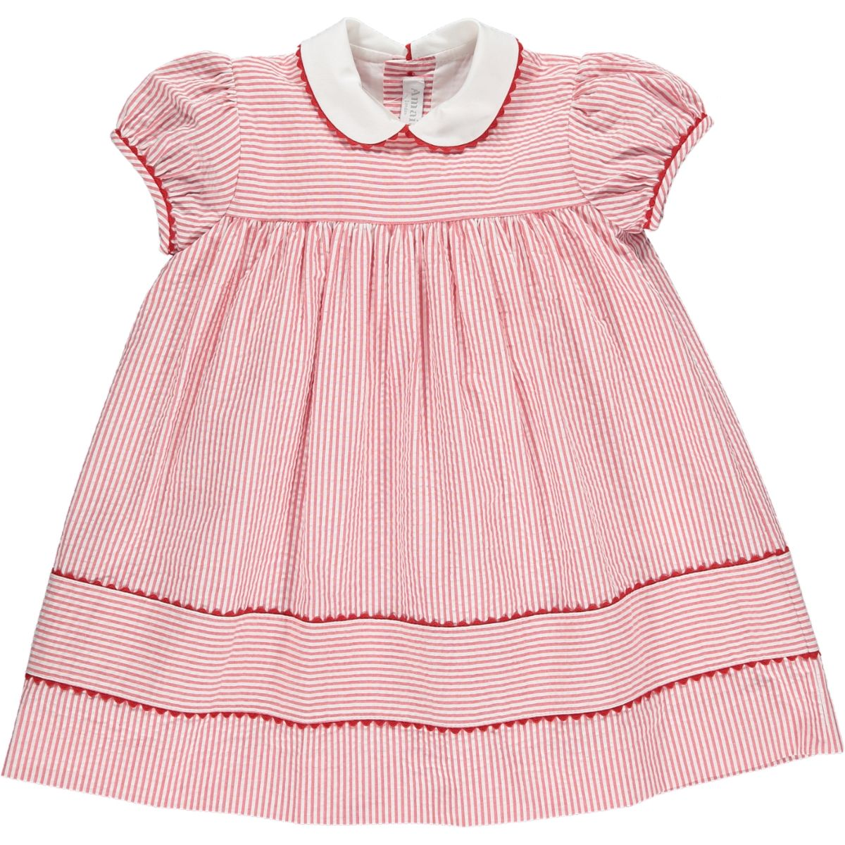 Zoe Dress Red Stripe