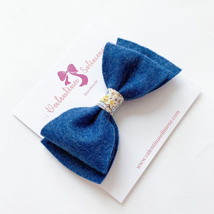 Wool Felt and Liberty Bow Blue