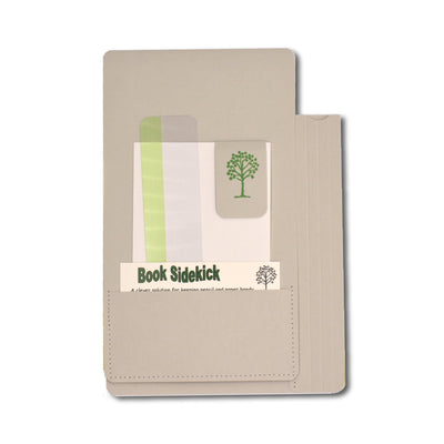 Book Sidekick - Light Grey - Notegeist dot com