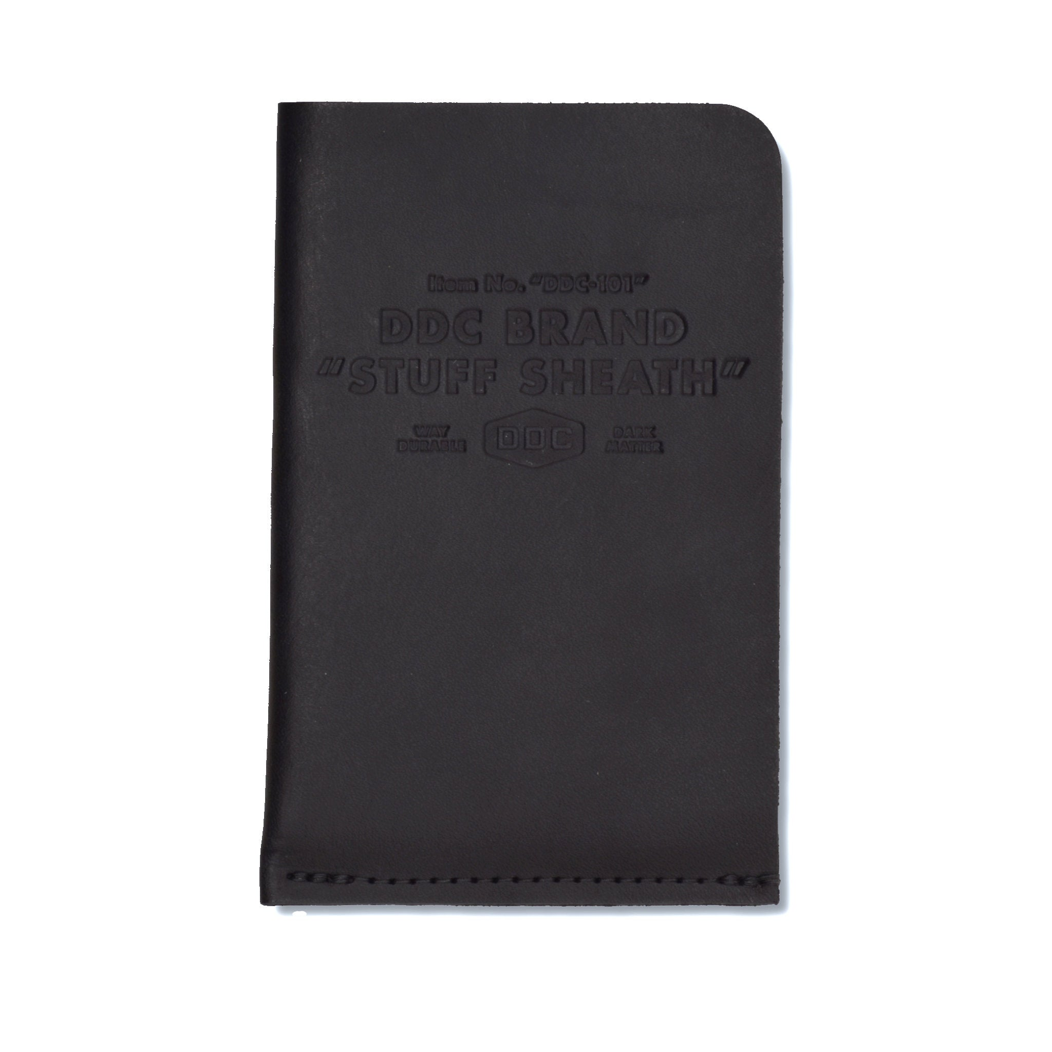 DDC Leather Stuff Sheath - Dark Matter - Notegeist dot com