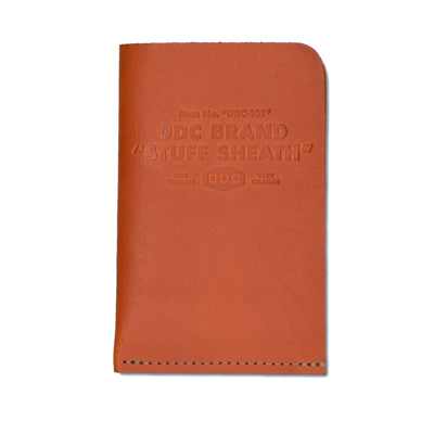 DDC Leather Stuff Sheath - Very Orange - Notegeist dot com