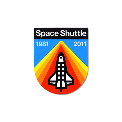 DDC Sticker - Space Shuttle - Notegeist dot com