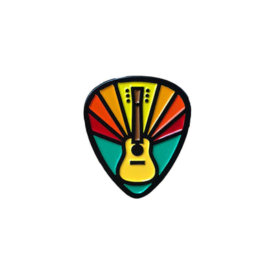 DDC Enamel Pins - Guitar Pick Pin - Notegeist dot com