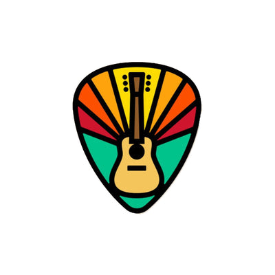 DDC Enamel Pins - Guitar Pick Sticker - Notegeist dot com