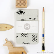 Dapper Notes Limited Edition Single Notebook - One Eye Open - Collage - Notegeist dot com