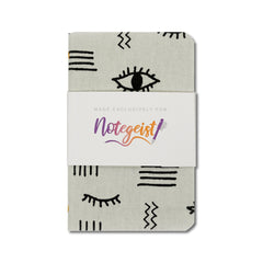 Dapper Notes Limited Edition Single Notebook - One Eye Open - Notegeist Belly Band Side - Notegeist dot com