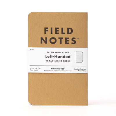 Field Notes Kraft Left Handed - Notegeist dot com