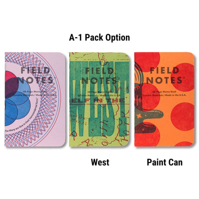 Field Notes United States of Letterpress - A-1 Pack - Notegeist dot com