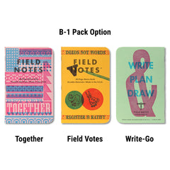 Field Notes United States of Letterpress - B-1 pack - Notegeist dot com