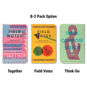 Field Notes United States of Letterpress - B-2 pack - Notegeist dot com