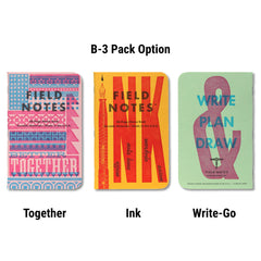 Field Notes United States of Letterpress - B-3 pack - Notegeist dot com