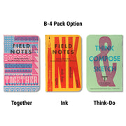 Field Notes United States of Letterpress - B-4 pack - Notegeist dot com