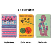 Field Notes United States of Letterpress - B-5 pack - Notegeist dot com