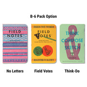 Field Notes United States of Letterpress - B-6 pack - Notegeist dot com