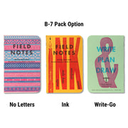 Field Notes United States of Letterpress - B-7 pack - Notegeist dot com