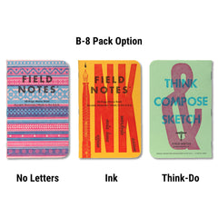 Field Notes United States of Letterpress - B-8 pack - Notegeist dot com