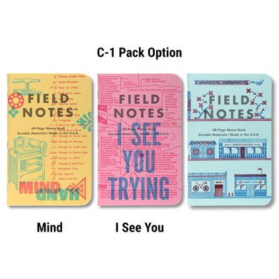 Field Notes United States of Letterpress - C-1 pack - Notegeist dot com