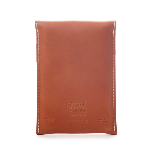 Field Notes Pony Express Leather Pouch - Back - Notegeist dot com