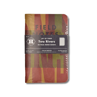 Field Notes Two Rivers - Front - Notegeist dot com