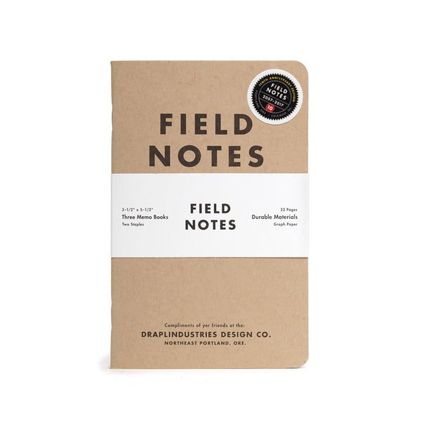 Field Notes 10th Anniversary Edition - Notegeist dot com