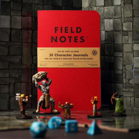 Field Notes 5E Character Journals - Notegeist dot com