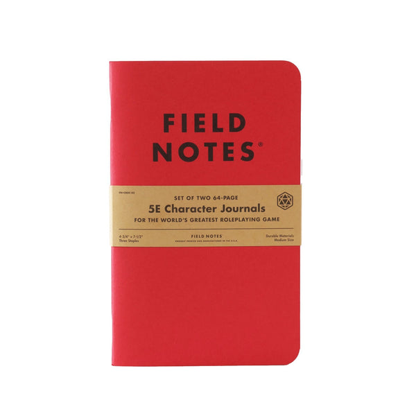 Field Notes 5E Character Journals - Pages - Notegeist dot com
