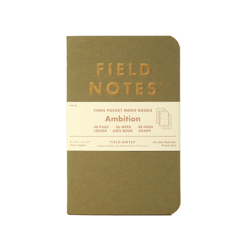 Field Notes Ambition - Notegeist dot com