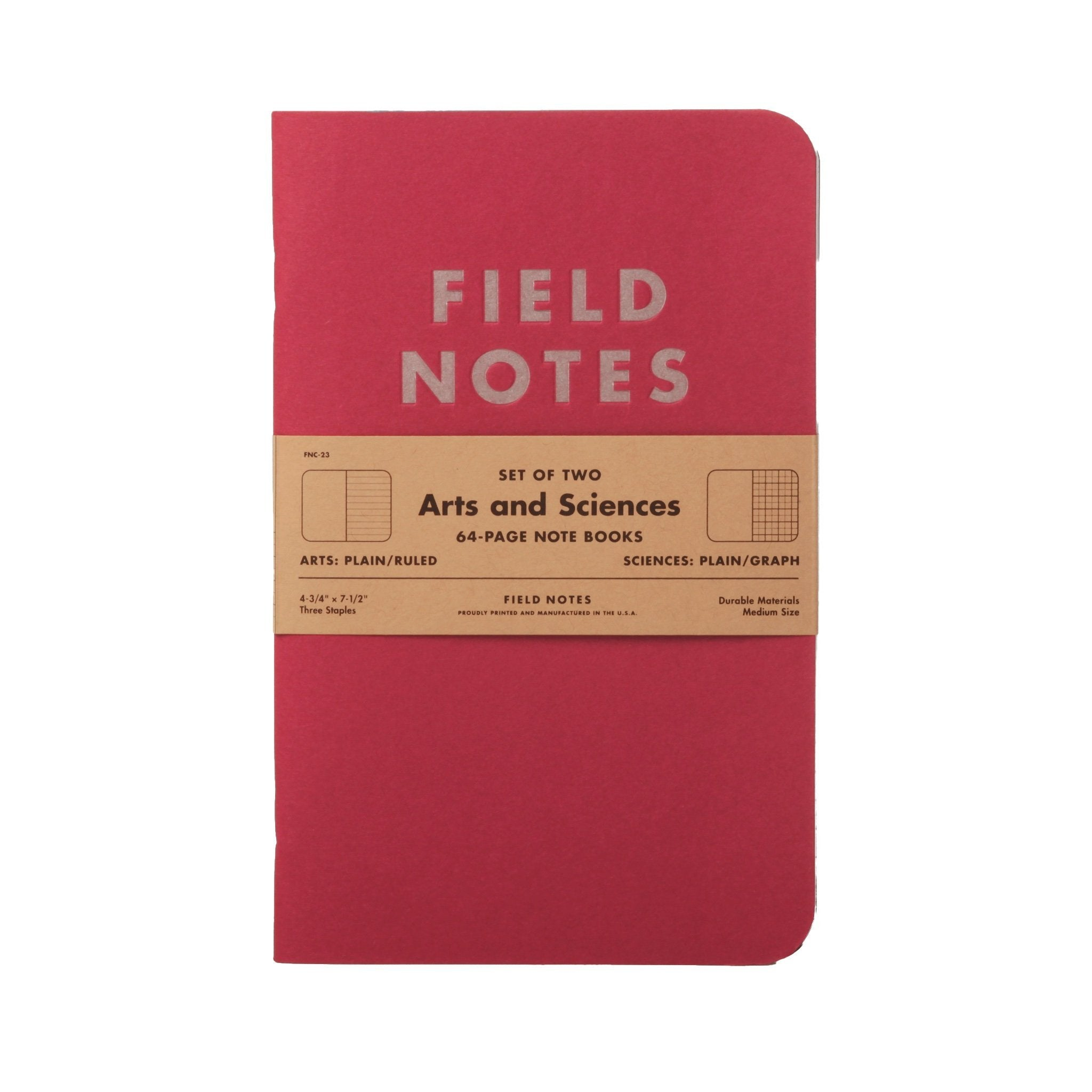 Field Notes Arts & Sciences - Notegeist dot com