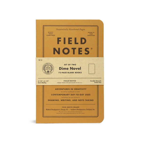 Field Notes Dime Novel Pack - Notegeist dot com