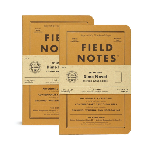 Field Notes Dime Novel Two Packs - Notegeist dot com