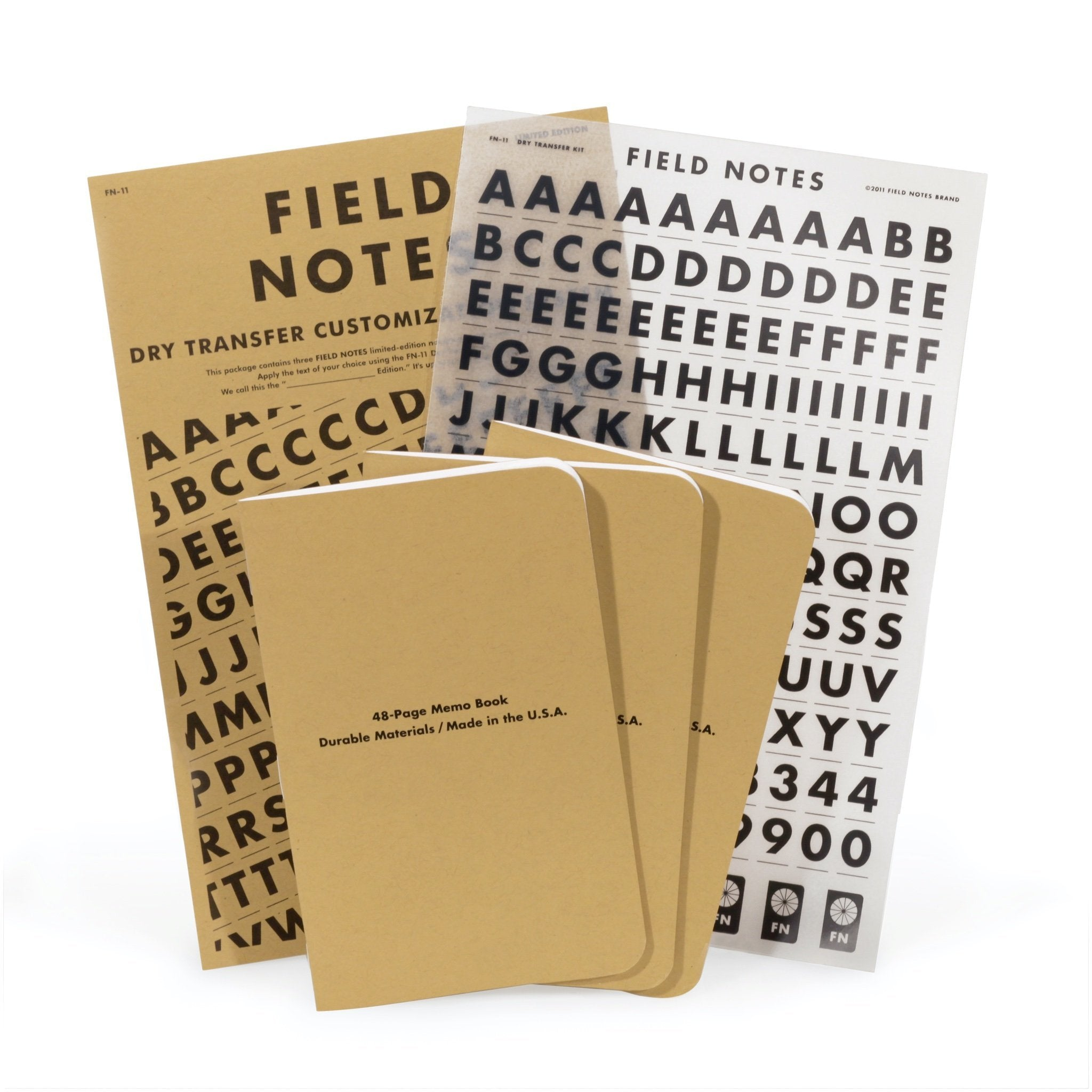 Field Notes Dry Transfer - Contents - Notegeist dot com