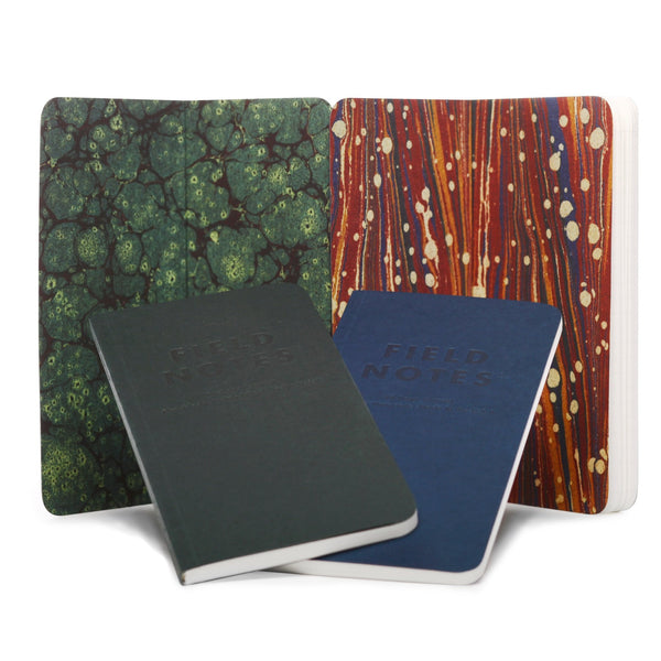 Field Notes End Papers - Marble End Papers - Notegeist dot com