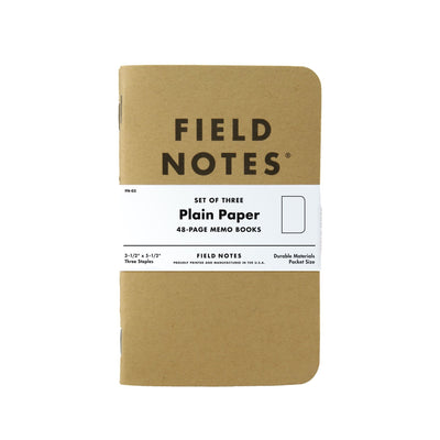 Field Notes Kraft Original - Plain Paper - Notegeist dot com