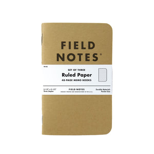 Field Notes Kraft Original - Ruled Paper - Notegeist dot com