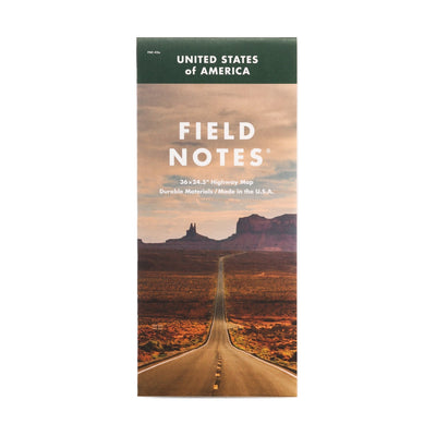 Field Note Mile Marker - Map - Notegeist dot com