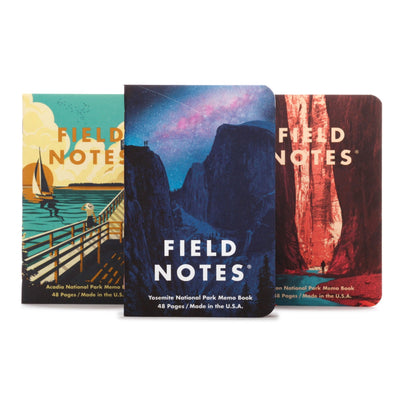 Field Notes National Parks - Pack A - Notegeist dot com