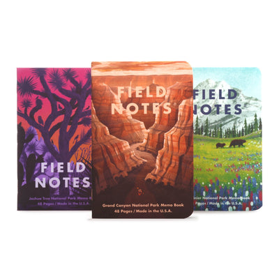 Field Notes National Parks - Pack B - Notegeist dot com