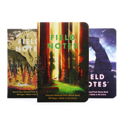Field Notes National Parks - Pack D - Notegeist dot com