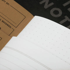 Field Notes Pitch Black Memo - Page Layouts - Notegeist dot com
