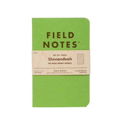 Field Notes Shenandoah - Notegeist dot com
