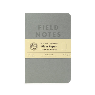 Field Notes Signature - Plain - Notegeist dot com