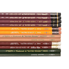 Japanese Pencil Sampler - Mitsubishi - Notegeist dot com