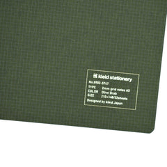 Kleid A5 Grid Notes Notebook - Olive Drab - Cover - Notegeist dot com