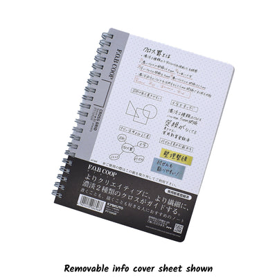 Kyokuto FOB COOP A5 Cross Grid Notebook - Notegeist dot com